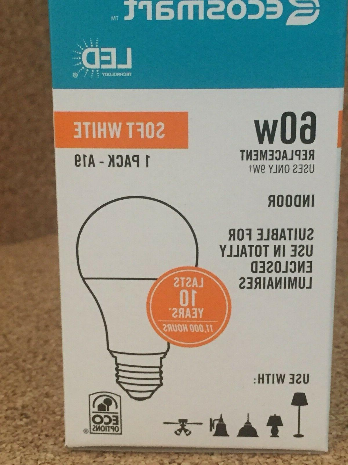 NEW Ecosmart 60W Replacement LED Soft White Light Bulbs 100
