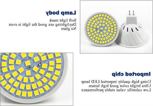 MR16 GU10 E14 5W 8W COB Ultra Bright 2835 SMD Light 220V