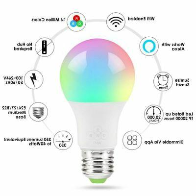 Multi-Color Light Bulb Alexa/Google App