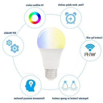 Multi-Color LED Light Bulb Alexa/Google Home