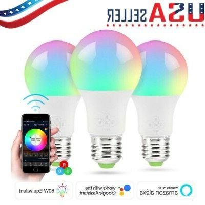 multi color wifi smart led light bulb