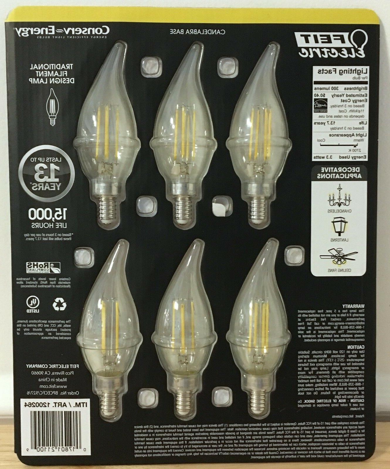 NEW E12 Soft Chandelier Bulbs 40w
