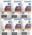 New 6 Philips Soft White LED Light Bulbs A19 60 Watt Equival
