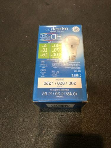 new GE refresh 3 Way 30/70/100W Equivalent A21 LED daylight