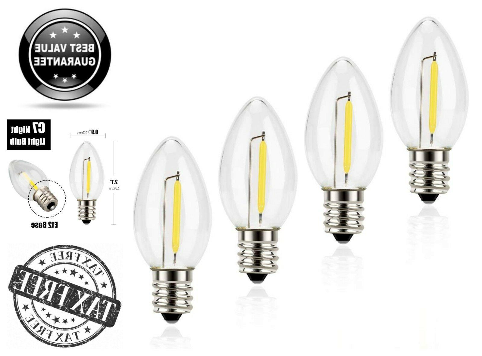 4 Pack Emotionlite C7 Candelabra LED Night Light Bulbs 2700K