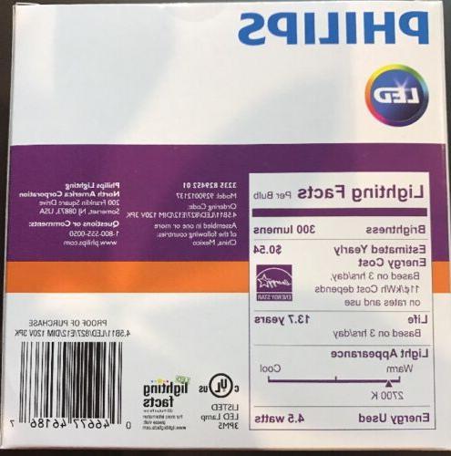 One 3-pack Soft White B11 Candelabra LED Bulb