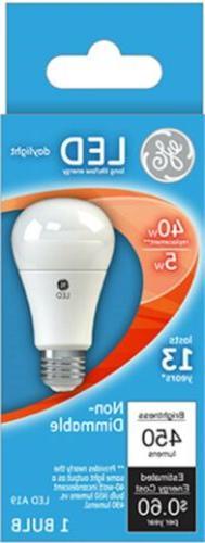 Part 61961,G E Lighting,GE LED5A19/5K/BX, 5W, Daylight, LED