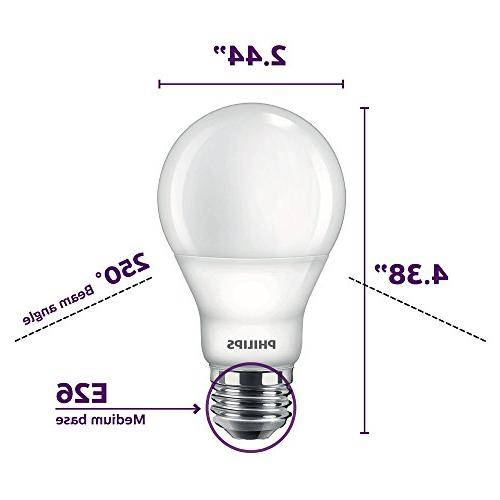Phillips Light with Glow Effect Kelvin, E26 Base, Soft 4-Pack