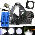 90000LM Zoomable Tactical Headlamp T6 LED Head Light +18650