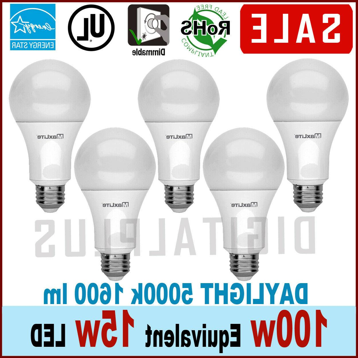 qty 5 led daylight dimmable light bulb