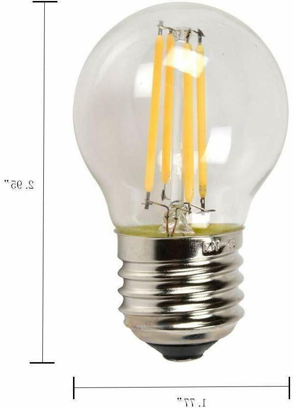 retro g45 led edison filament bulb 4w