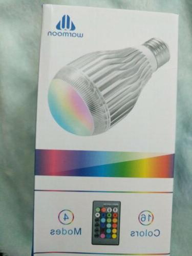 Warmoon RGB LED bulb, 4 modes, 16 colors, with remote contro