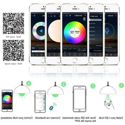 RGBW Light Bulb Home Smart APP Control