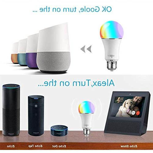 Smart Bulb, Wigbow WI-FI Led Light Changing 5000K Mood Compatible with .