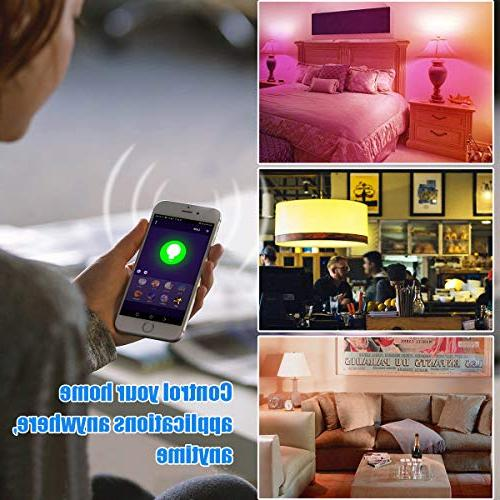 Smart Bulb, Wigbow Led Light Bulb Color Changing Equivalent. Mood Compatible Home .
