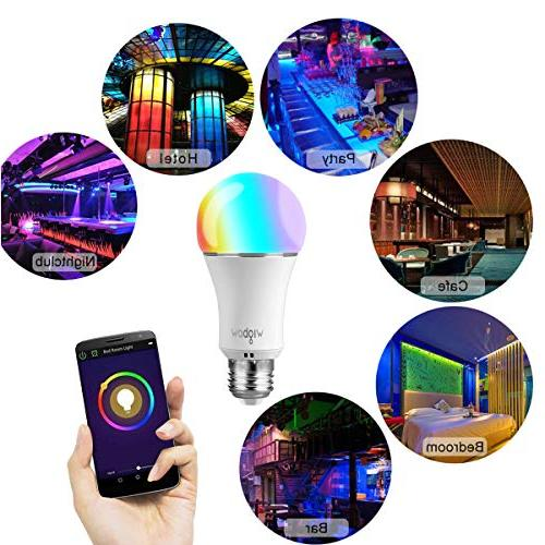 Smart Bulb, Wigbow Led Changing 5000K Mood Light Compatible with Alexa/Google Home .