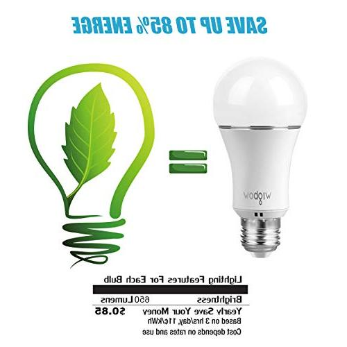 Smart Wigbow Led Light Changing 5000K Mood Light Bulbs That Compatible with .