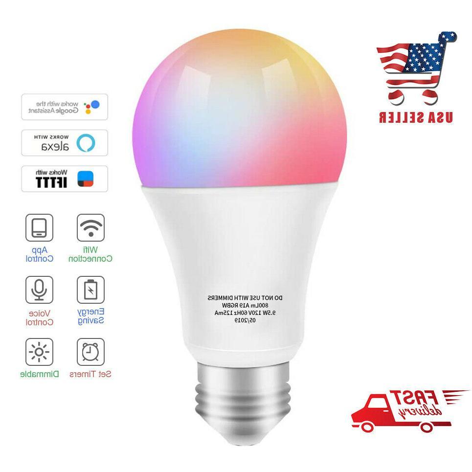 smart led bulb wifi multicolor light bulb