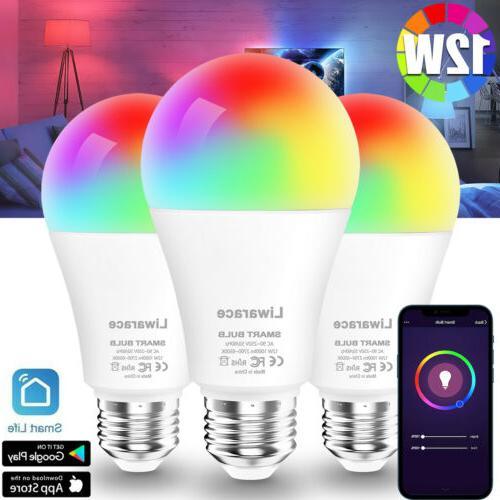 smart led light bulb 12w 70w e26
