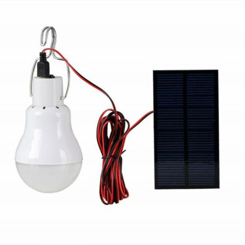 Solar Panel Powered LED Lamp Indoor