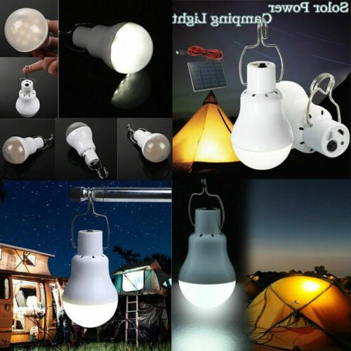 Solar Panel Powered LED Lights Light Lamp Camping Outdoor