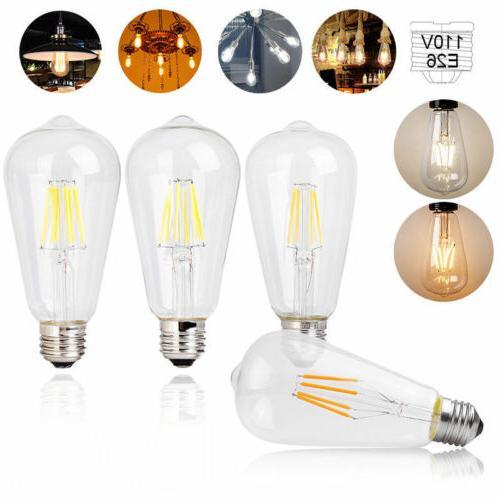 ST64 Edison LED Bulb E26 4 6 8W Decor Lighting Pendant Lamp