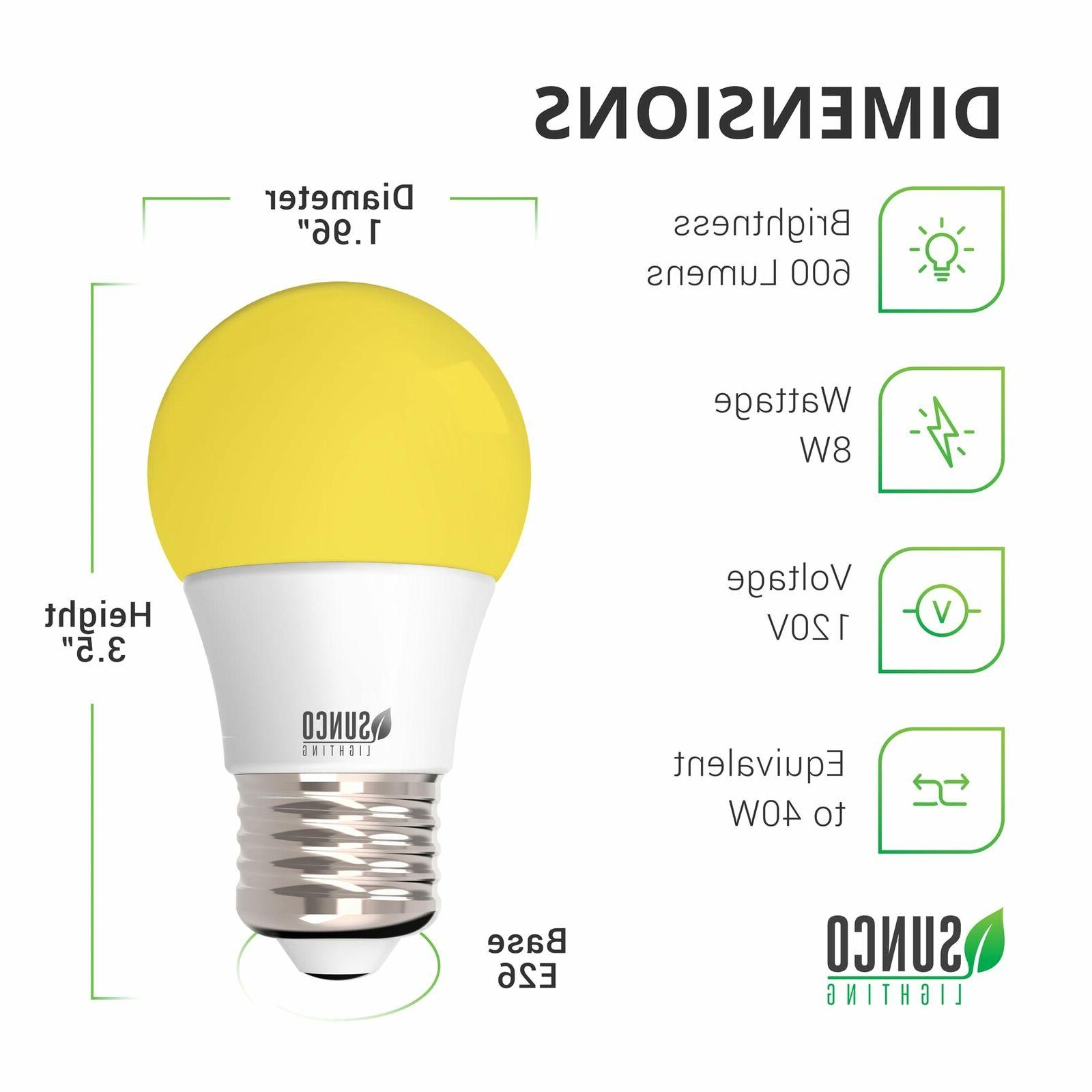 Sunco Pack Dimmable Bug Repel Light E26