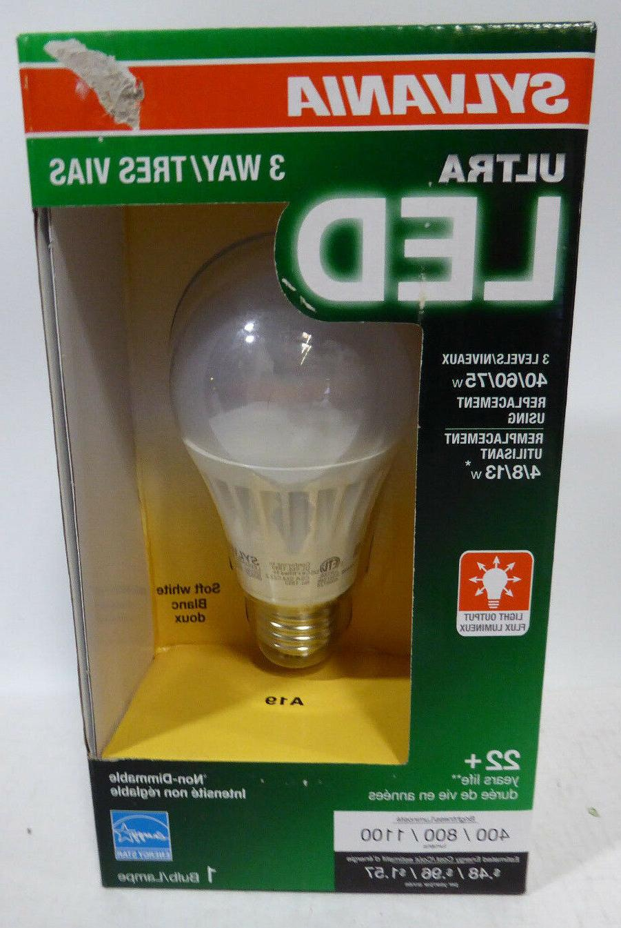 SYLVANIA ULTRA 3-WAY LED Light Bulb 40/60/75W Replacement LE