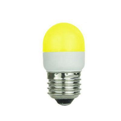 SUNLITE 0.5w Tubular T10 Yellow LED Medium Screw In Base Bul