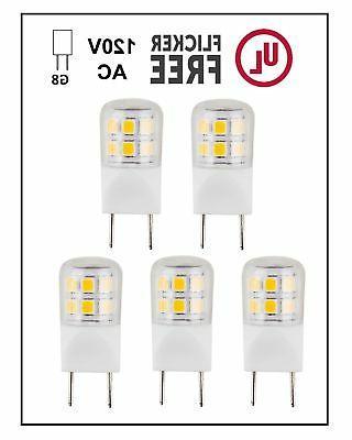 CBConcept UL-Listed, G8 LED Light Bulb , 5-Pack, 2 Watt,
