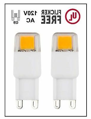 CBConcept UL-Listed, G9 LED Light Bulb, 2-Pack, Epistar COB