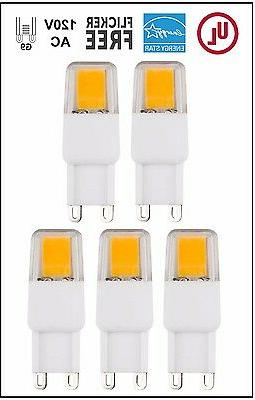 CBConcept UL-Listed, G9 LED Light Bulb, 5-Pack,Epistar COB 2