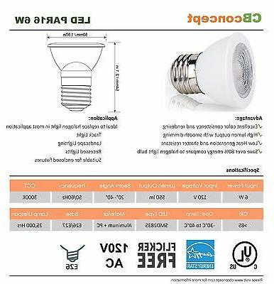CBConcept UL-Listed Bulb,4-Pack,6 Watt,550 Base