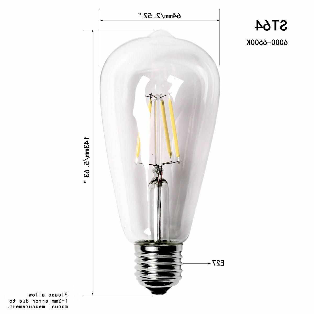 Vintage 60W Edison Screw Bulb ST64 Lamp