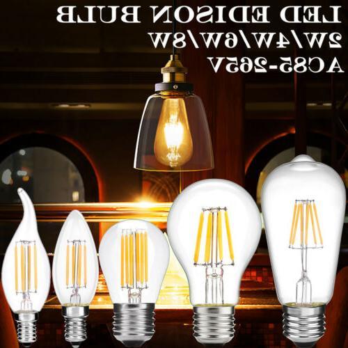 1/4Pcs Vintage Industrial Filament LED Edison E27 E14 Bayone