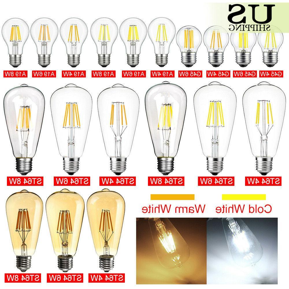 Vintage LED E26 4W 6W 8W Dimmable Edison CoB Filament Light