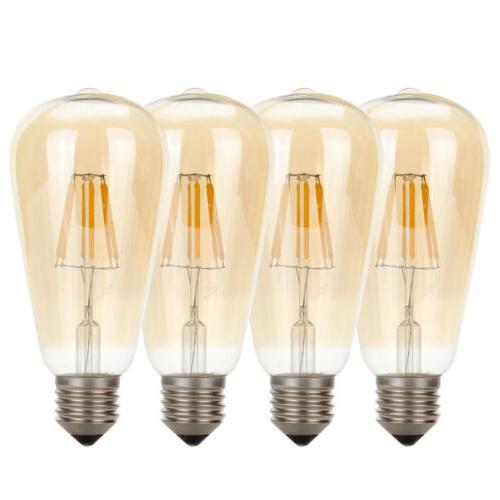 Vintage E26 4W 6W LED Light COB Filament Lamp
