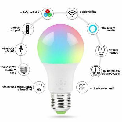 Wifi Light Bulb Alexa Home Control Lot