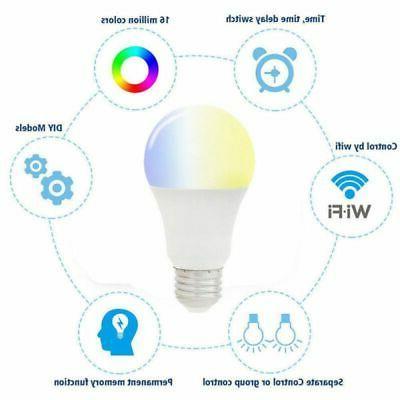 Wifi Color Light Bulb for Amazon Alexa Google Home Control