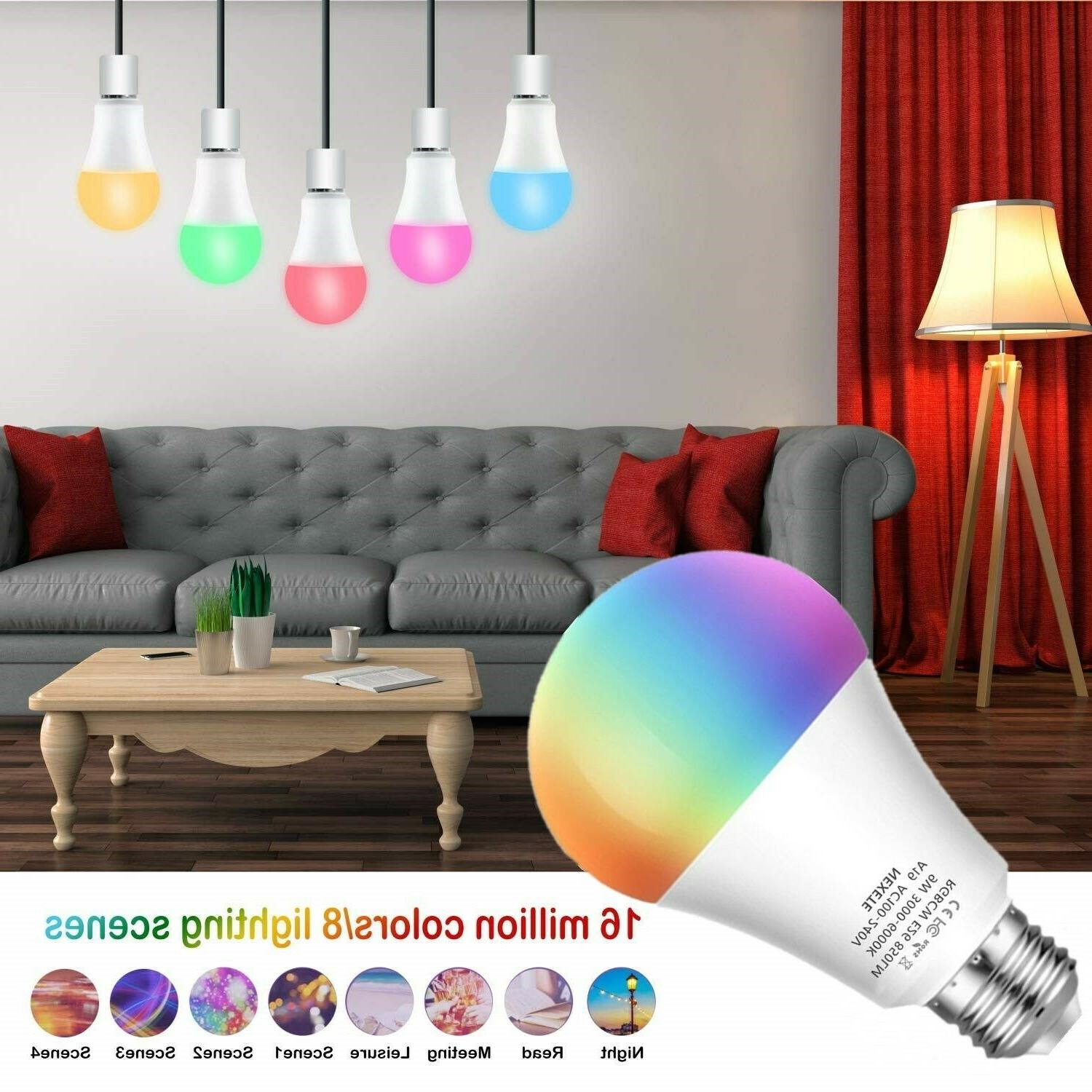 60W A19 Dimmable Color Smart Alexa Googl
