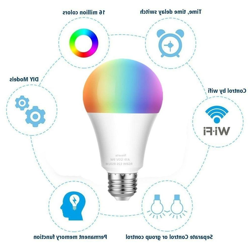 60W Dimmable Color Changing LED Alexa Googl