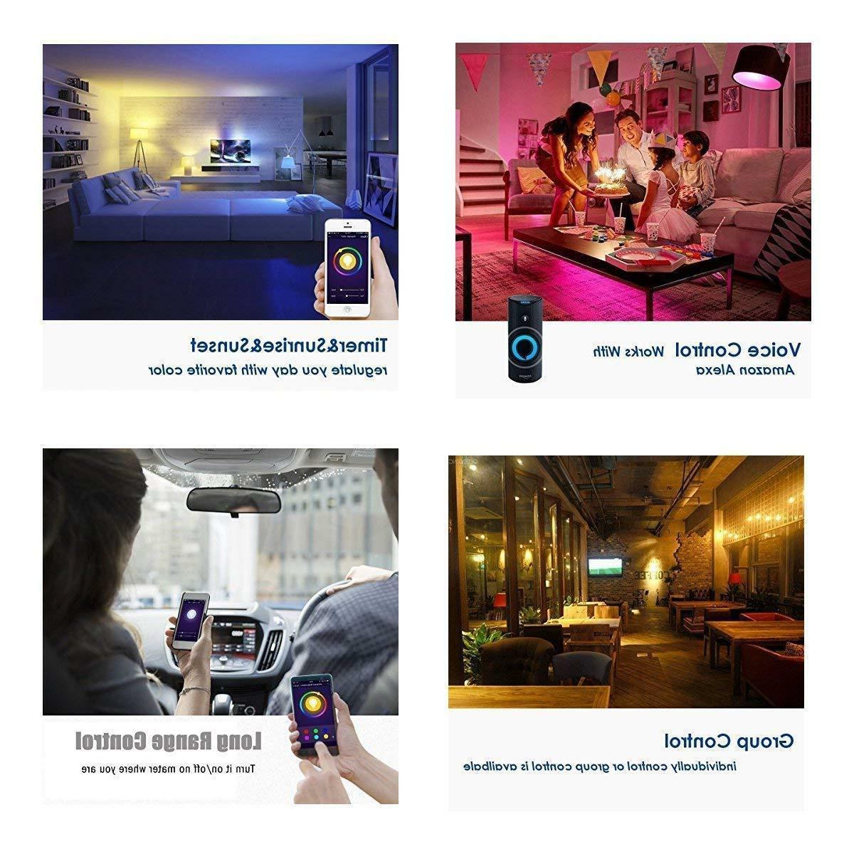 Wifi Smart LED Bulb 9W A19 850LM RGBW for Alexa/Google Home