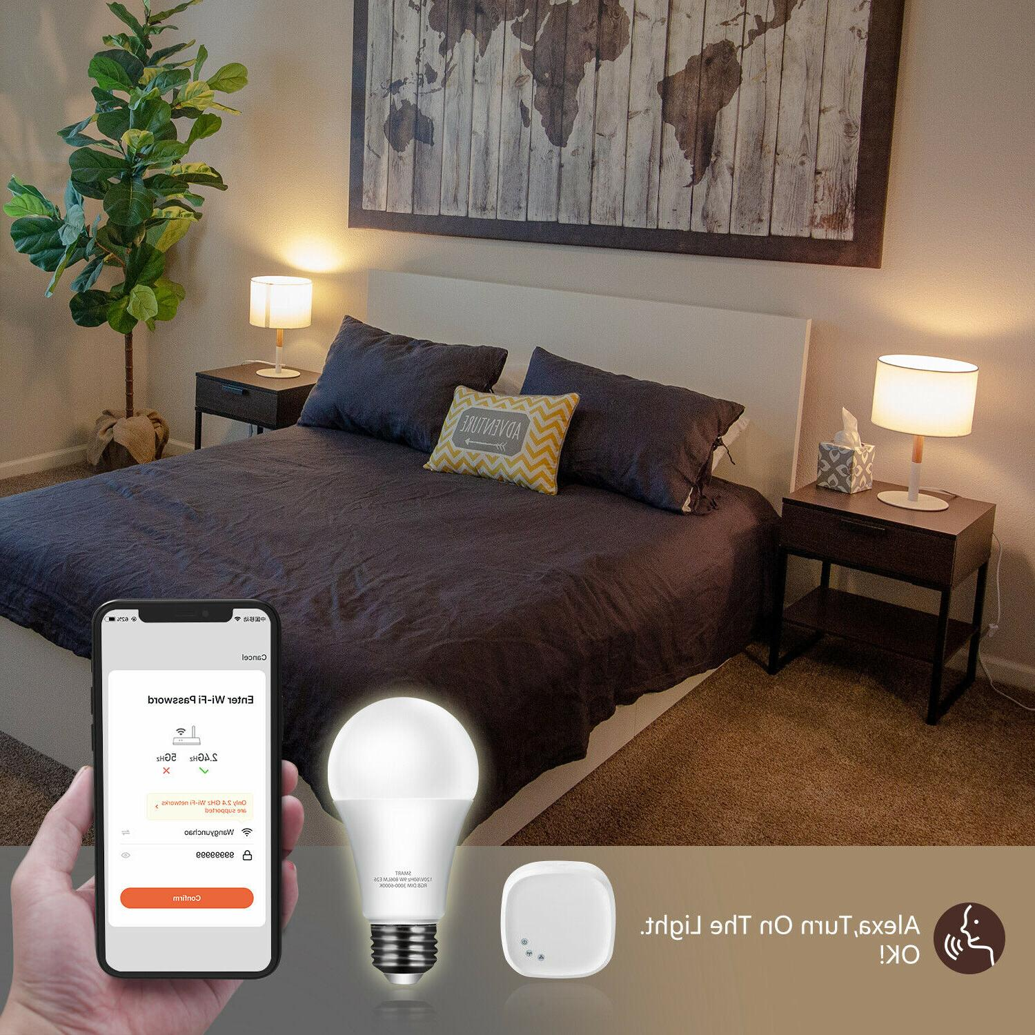 Wifi light Bulb 9W RGB Dimmable for App Control