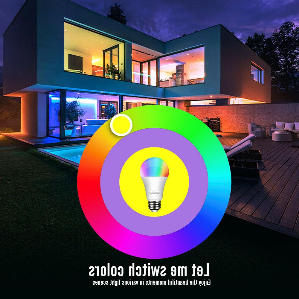 Wifi Smart Bulb E26 Dimmable for Alexa/Google Home App Control