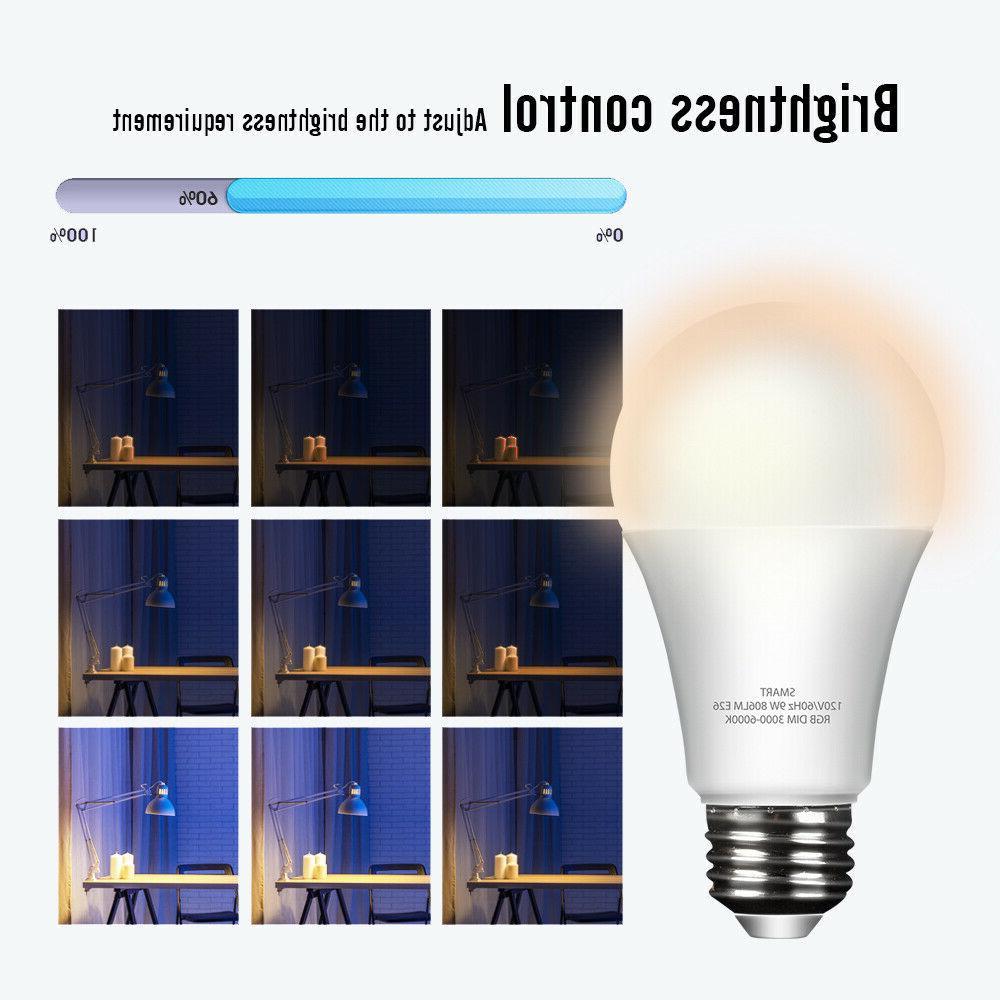 Wifi light Bulb RGB Dimmable Alexa/Google App