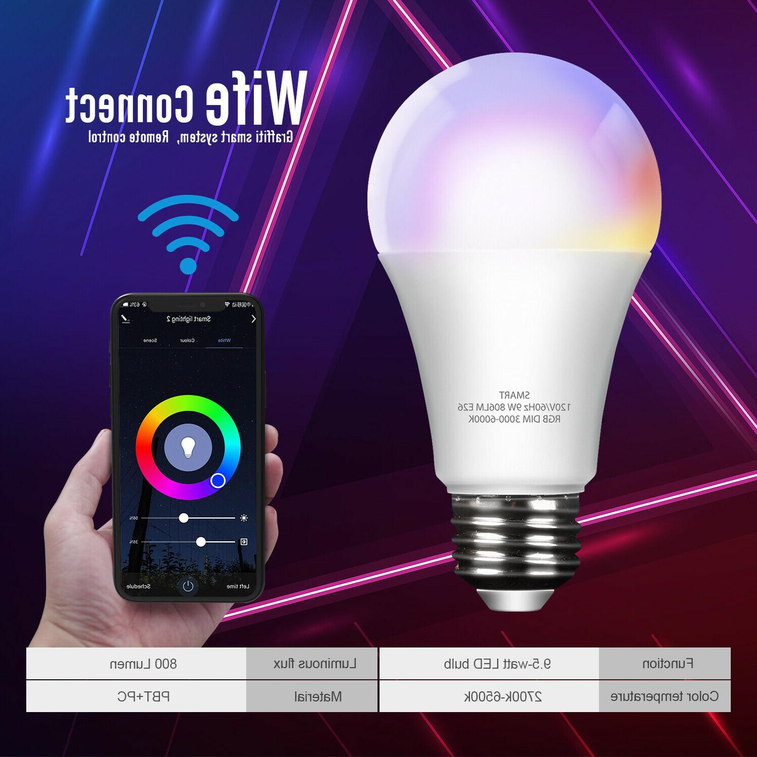 Wifi Bulb E26 Dimmable for Home App
