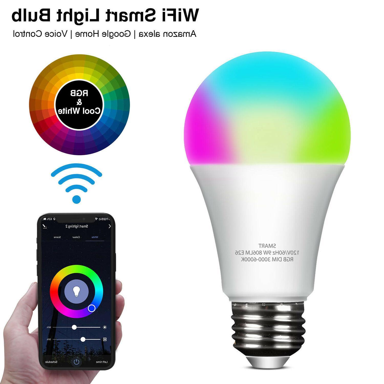 wifi smart led light bulb 9w e26