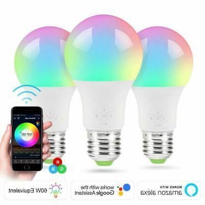 Wifi Smart LED Light Bulb for Home App Multi-Color