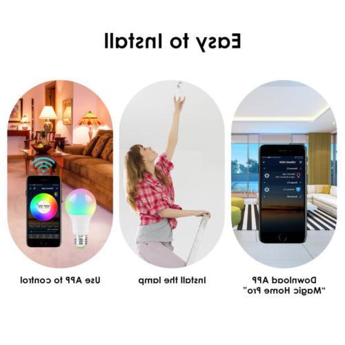 Wifi Smart LED Bulb Control for Alexa/Google Home
