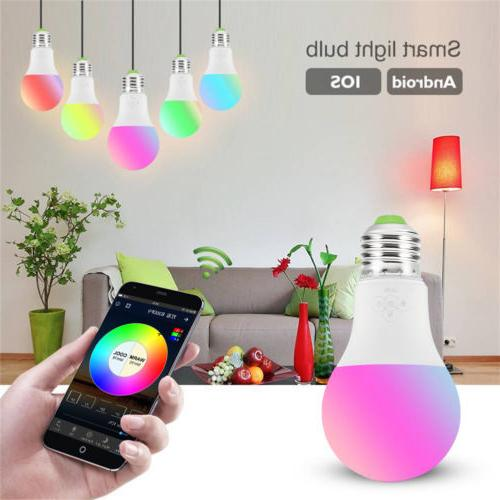 Wifi Smart LED Bulb Dimmable Control Home